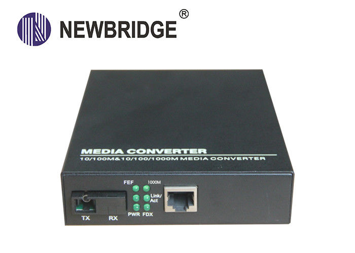 10 100/1000M Media Converter Dual Fiber Single Mode 1310nm 0 - 20km